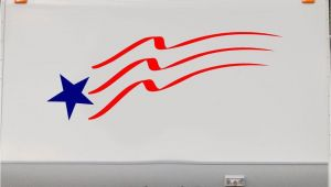 Motorhome Murals Flag Stars and Stripes Rv Camper 5th Wheel Motorhome Vinyl Decal