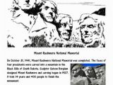 Mount Rushmore Coloring Page October Worksheets and Coloring Pages