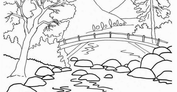 Mountain Coloring Pages for Kids Mountain Coloring Pages Lovely Free Printable Nature Coloring Pages