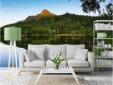 Mountain Lake Wall Mural 3d Room Wallpaper Custom Mural Sunset Hills Calm Lake Water Beautiful Scenery Europe and America Modern Wallpaper for Walls 3 D Wallpaper In Hd