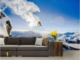 Mountain Lake Wall Mural Snow Wall Mural Snow Wall Decal Extreme Wallpaper Snowboard Wallpaper Self Adhesive Vinly Mountains Wallpaper Extreme Snowboard