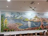 Mountain Mural On Wall La Posada De Brasil Málaga Centro Restaurant