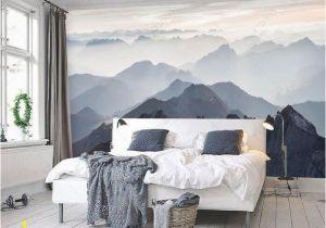 Mountain Mural Wall Art Mystische Berge Wandbild Misty Mountain Schatten