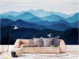 Mountain Scene Wall Murals Custom Listing for Elizabeth Misty Mountain Wallpaper Foggy