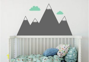 Mountain Wall Mural Nursery Mountain Wall Decal Nursery Decal Mountain Decals Kids