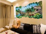 Movie themed Wall Murals 3d Dinosaurs Through the Wall Stickers Home Decoration Diy Cartoon Kids Room 1458 Wall Decal Movie Mural Art Girls Bedroom Wall Stickers Girls Wall