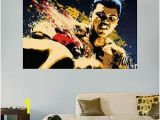Movie themed Wall Murals Muhammad Ali Stung Illustration Mural Fathead Wall Decal
