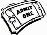Movie Ticket Coloring Page 3188 Ticket Free Clipart 3