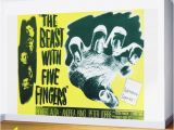 Movie Wall Murals Posters the Beast with Five Fingers Vintage Horror Movie Poster Wall Mural