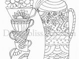 Mug Coloring Page Printable Instant Download Adult Coloring Page Design Coloring Page