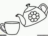 Mug Coloring Page Printable Teapot Coloring Page Coloring Home