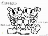 Mugman and Cuphead Coloring Pages Cuphead Coloring Pages Cuphead and Mugman Printable
