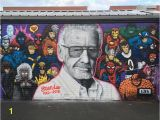 Mural Artist Job Vacancies Colorful Mural Art Pays Tribute to Ic Book Legend Stan Lee