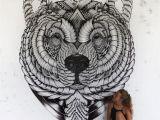 Mural Artist Jobs A Job Well Done Bear Mural Art Zentangle Animal