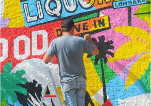 Mural Artist Los Angeles Artist Lobo Paints A Mural Inspired by Los Angeles