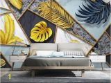 Mural Canvas Wall Covering 3d Abstract Geometric Mural Tropical Leaf Wallpaper 3d Wall Mural Canvas Print Art Wall Paper Contact Paper Luxury Home Decor Free Wallpapers for Pc Free