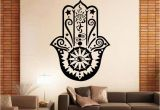Mural Decals for Walls Art Design Hamsa Hand Wall Decal Vinyl Fatima Yoga Vibes Sticker