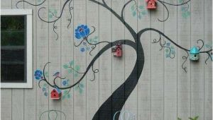 Mural Designs for Exterior Wall Tree Mural Brightens Exterior Wall Of Outbuilding or Home