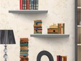 Mural Floating Shelf Removable Diy 3d Wall Sticker Creative Bookshelf Book Wallpaper for