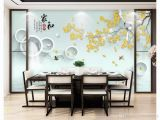 Mural On A Wall 3d Wallpapers Custom Mural Wall Paper Home and Rich Work Pen Magnolia Bird Nine Fish Illustration Tv Background Wall Papel De Parede Widescreen