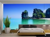 Mural On Bedroom Wall Coastal Decor with Dark Furniture Google Search