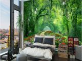 Mural On Bedroom Wall Nature Landscape 3d Wall Mural Wallpaper Wood Park Small Road Mural Living Room Tv Backdrop Wallpaper for Bedroom Walls Canada 2019 From Arkadi