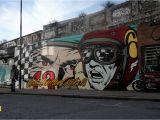 Mural On Concrete Wall Murals — D Face