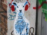 Mural On Concrete Wall Via Stencil Chile Chile Streetart Simple