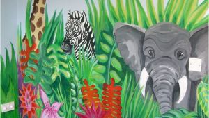 Mural Paint Brushes Jungle Scene and More Murals to Ideas for Painting Children S
