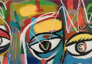 Mural Paint Markers Abstraktes Acrylgemälde Gesicht Bunt Kaufen