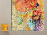 Mural Painting Companies 2019 1 Panel Wall Art Japanese Kimono Oil Painting Canvas Wall