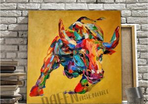Mural Painting Companies 2019 Hand Painted Oil Painting Canvas Bull Cow Painting