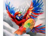 Mural Painting Cost 2019 Hand Painted Free Shippiing Pop Art Oil Painting Animal Parrot