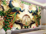 Mural Painting Cost Custom 3d Wall Mural Wallpaper 3d Non Woven Peacock Living Room Tv