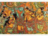 Mural Painting Cost Ret M Art Digital Art Kerala Mural Krishna Leela with Gopis