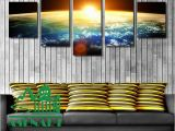 Mural Painting Materials 2019 Amazing Skyline Sunrise Painting Oil Canvas Hd Print Picture
