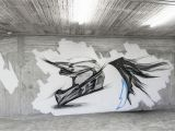 Mural Painting On Concrete Wall Artist Ino Location athens Greece Material Aerosol