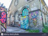 Mural Painting On Concrete Wall Artistic Graffiti Stockfotos & Artistic Graffiti Bilder
