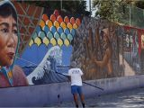 Mural Painting On Concrete Wall L A S Judith Baca Wins $50 000 Award Breaking Ground for