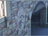 """Mural Painting On Concrete Wall the """"carvings"""" are but An Allusion Cleverly Painted so to"""