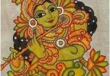 Mural Painting On Fabric Kerala Mural Painting On Kasavu Saree Paintings