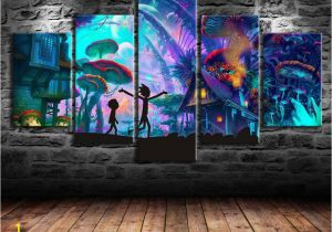 Mural Painting Prices 2019 Rick and Morty Canvas Prints Wall Art Oil Painting Home Decor