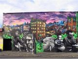 Mural Painting Seattle Tribute to Seattle Musicians Mural Rip 2012