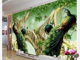Mural Painting Supplies Beautiful Peacock Tv Background Wall Decoration Painting Photo 3d
