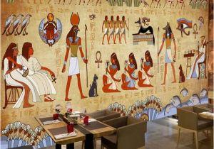 Mural Painting Supplies Wallpaper European Style Retro 3d Ancient Egyptian Pharaoh