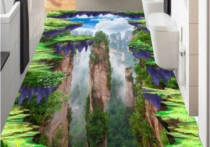 Mural Paints Supplies 3d Wallpapers for Living Room Custom 3d Flooring Mountain Peak