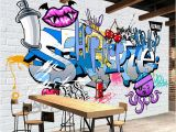 Mural Paints Supplies Custom 3d Mural Wallpaper Street Art Graffiti Cartoon Hand Painted