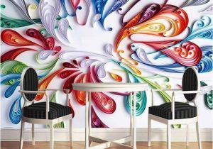 Mural Paints Supplies Custom Mural Wallpaper High Quality Modern Fashion Simple 3d