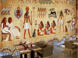 Mural Paints Supplies Wallpaper European Style Retro 3d Ancient Egyptian Pharaoh