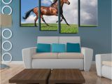 Mural Printing Service 2019 4 Panels Horse Art Picture Frames Wall Painting Print